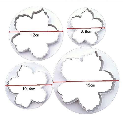 r Peony Petals Cutter 4pcs/set Gum Paste Flowers Cake Decorating Cutter Fondant Mold Sugar Tools ()