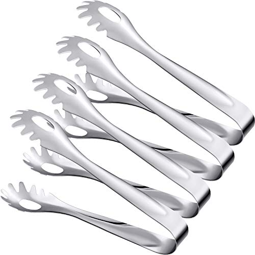 Boao Serving Tongs, Kitchen Tongs, Food Tongs, 8 Inch Stainless Steel Tongs 4 Pack