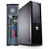Dell Optiplex 780 Desktop Business Computer PC (Intel Dual-Core Processor up to 3.0GHz, 4GB DDR3 Memory, 250GB HDD, DVD ROM, Windows 7 Professional 32 Bit Wi-Fi) (Certified Refurbished)