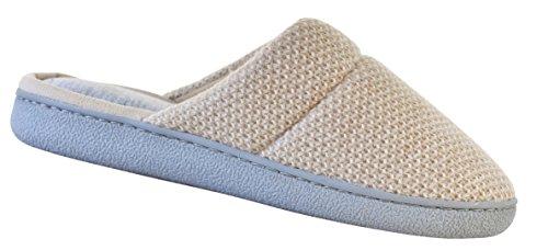 Dearfoams Slipper Women's Closed Knit Oatmeal Heather Toe Textured Scuff 51719 UvpUgrn