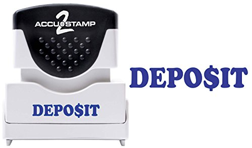 (ACCU-STAMP2 Message Stamp with Shutter, 1-Color, DEPOSIT, 1-5/8