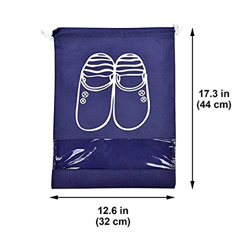 10 Pcs Shoe Storage Bags,KSHIP Water Resistant dust-proof Travel Shoe Bags with Drawstring For Men and Women Large shoes pouch Packing Organizers
