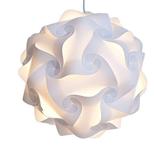 Fding Modern IQ Puzzle Lampshade for DIY Home Decor Art Decor- Jigsaw Lights Lampshade (Medium, White)