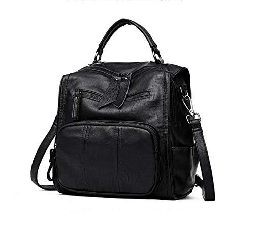 Vtootkl 9 2 mochila mochila 10 8 5 1 bolso Black señora Lxopr inch pu YSfPqYr
