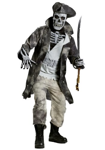 Fun World Men's Ghost Pirate Costume, Multi Standard -