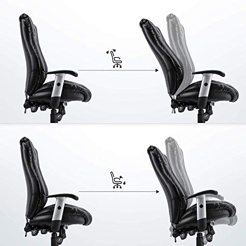 Smugdesk Executive Office Chair Ergonomic Heavy Duty Chair Leather Adjustable Swivel Comfortable Rolling Chair Photo #6