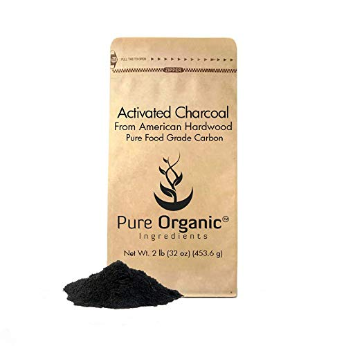 Natural Elements Activated Charcoal - Activated Charcoal Powder (2 lb.) by Pure Organic Ingredients, Highest Quality, USP Pharmaceutical & Food Grade, Vegan, Gluten-Free