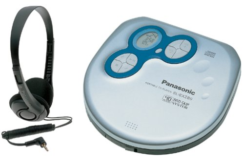 Panasonic SL-SX280 Portable CD Player (Silver and Blue) by Panasonic