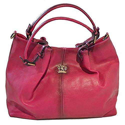Pratesi Italian Aged Leather Bucket Hobo Handbag Shoulder Bag