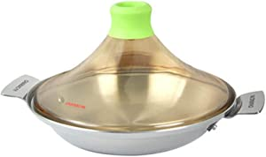 Moroccan Tagine High Temperature Casserole Dish Pyramid-shaped Cooking Home Kitchen Tajine Non-stick Cooker Suitable for Cooking Slow Cooker with Lid 26cm
