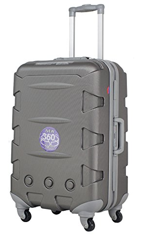 Ambassador Luggage ABS 20 Inch Carry On Luggage Spinner Suitcase Iron Gray by Ambassador