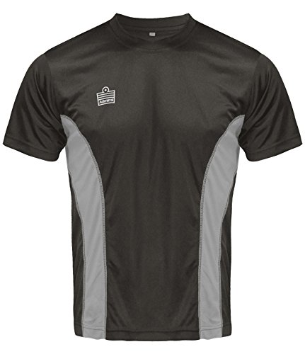 Admiral Titan Soccer Training Shirt, Black/Silver, Adult Large