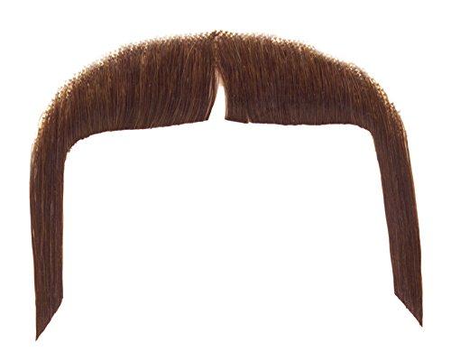 [Loftus International Real Human Hair Cowboy Gunslinger Moustache, Brown, One Size] (Moustache Halloween)