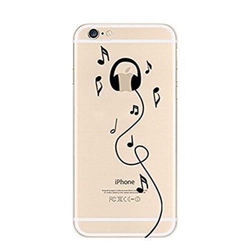 Fundas iPhone 6/6S,Vanki® Suave TPU Funda Parachoques Funda Absorción de Impactos y Anti-Arañazos Case Cover Carcasa Para iPhone 6/6S 8