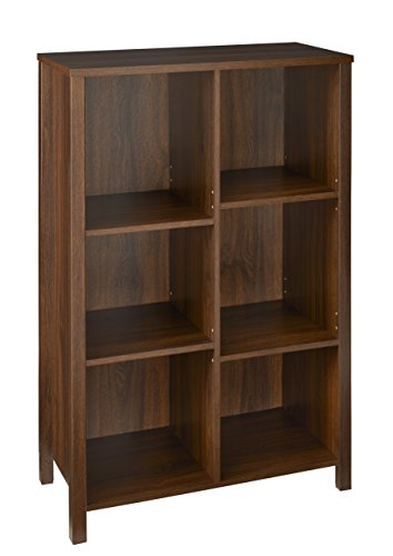 ClosetMaid 16054 Premium Adjustable 6-Cube Organizer, Dark Chestnut