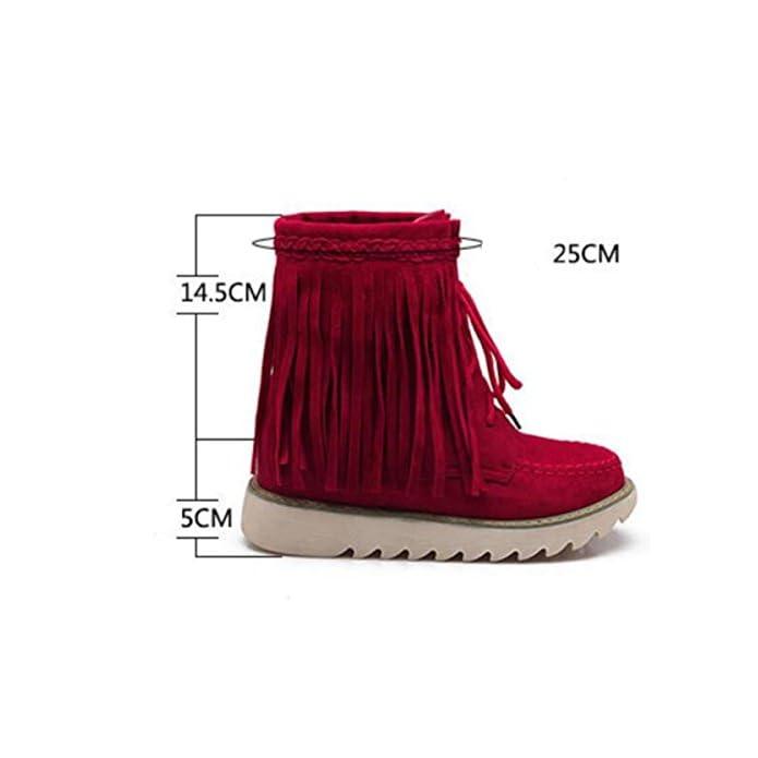 Autunno Inverno Donne Stivali Caricati Plus Cachemire Caldi Scarpe Casual Donna 37