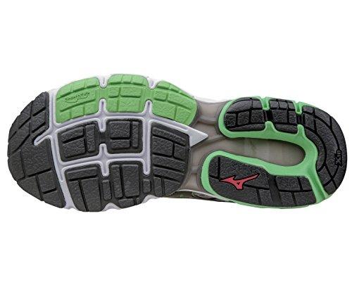 Mizuno Wave Inspire 11 Road Running Shoes Alloy/Black/Green Mens UK 10.5