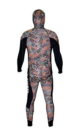 Amazon.com: sopras Sub Apnea Mimetic camuflaje 5 mm Traje de ...