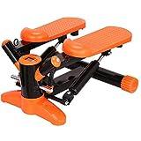 KERVINJESSIE Swing Step Machine,Fitness Equipment, Multi-Function Belt Rope Reducing Exercise Machine,Orange (Color : Orange)