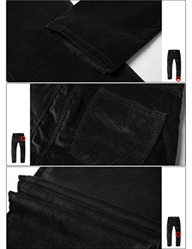 Cotelé 8084 khaki Velours Slim 8052 Pantalon Kaki Chino Tapered Homme En Match Stretch CUqfY7w