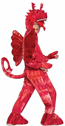 Forum Novelties Kids Red Dragon Costume, Red, -