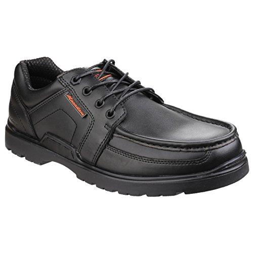 US Brass - Zapatos con cordones modelo Raleigh para hombre Negro