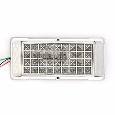 White 36 LED Car Vehicle Dome Roof Ceiling Interior Light Lamp DC 12V Silver US