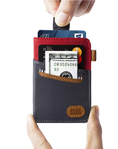 Minimalist Slim Wallet- Front Pocket Credit Card Holder with Cash & Key from Ebax