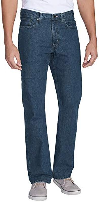 Eddie Bauer męskie dżinsy Straight Classic Fit bawełna: Odzież