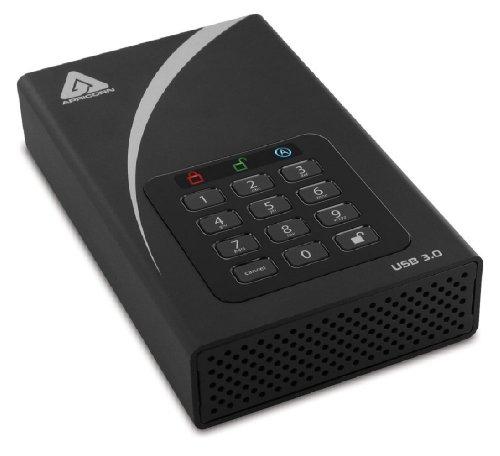 Apricorn Aegis Padlock 3 TB DT 256-bit Encryption USB 3 Hard Drive (ADT-3PL256-3000 )