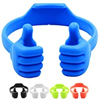 Honsky Thumbs-up Cell Phone Stand, 5 Packs Universal Flexible Multi-Angle Cute Desk Phone Holder, Compatible with Tablet Android Smart Cellphone Travel, Blue Black Green White Pink