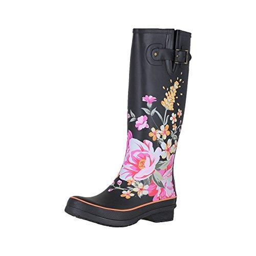 Chooka Hilde Black Womens Rain Boots Size 6M