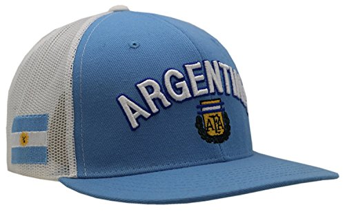 Argentina National Football Team Blue Mesh Snapback Cap