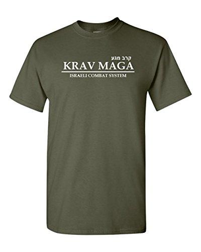 Got-Tee- Krav Maga Israeli Martial Art Combat T-shirt (Small, Olive Green)