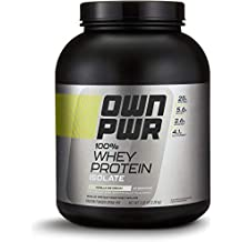 OWN PWR 100% Whey Protein Isolate Powder, Vanilla Ice Cream, 5 lb
