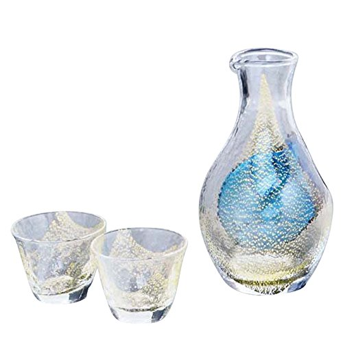 Made in Japan Cold wine set (gold foil) 【Cup】 【Tokutoshi】 【Japanese sake】 by nobrand