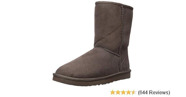 Amazon.com   UGG Australia Women s Classic Short Chocolate Sheepskin Boot -  5 B(M) US   Mid-Calf 46b649dcbec