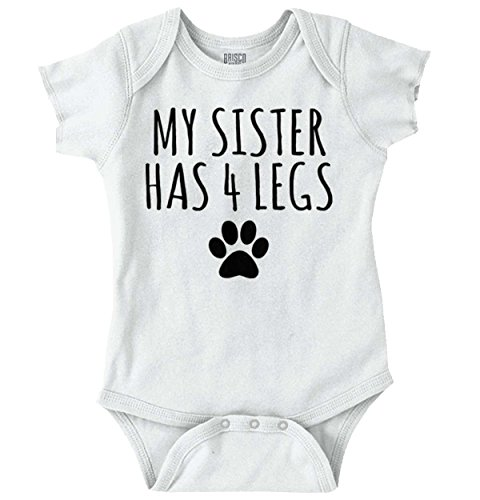 (Sister 4 Legs Funny Cute Pet Animals Dogs Romper)