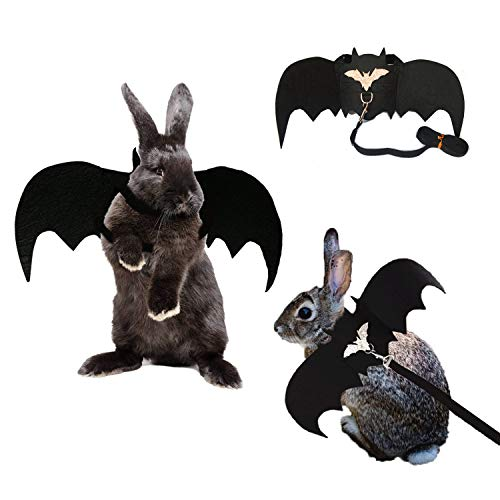 Costumes For Rabbits (Vehomy Small Animals Halloween Costume Small Pet Bat Wings Apparel for Rabbits, Puppies, Cats and Small)