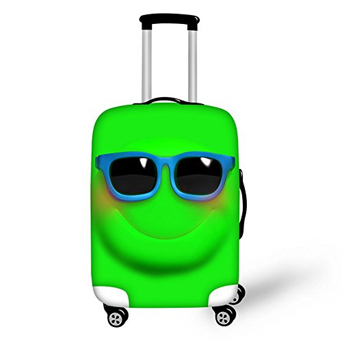 FOR U DESIGNS 18-22 Inch Small Cool Face Emoji Design Soft Luggage Cover for Kids