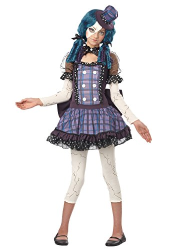 Creepy Doll Costumes For Kids (California Costumes Broken Doll Tween Costume, Large)