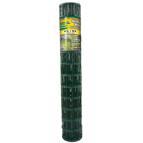 YARDGARD 308358A 4 Inch by 2 Inch Mesh, 48 Inch by 50 Foot 14 Gauge PVC Coated Welded Wire (Pvc Coated Wire Mesh)