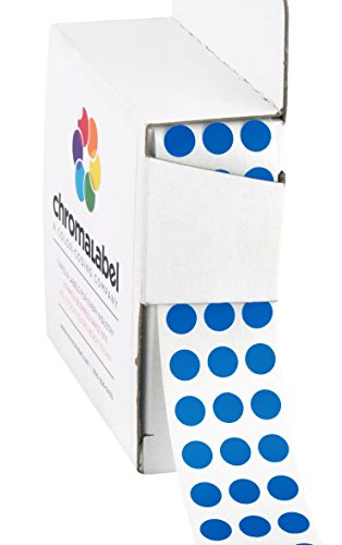 ChromaLabel 1/4 inch Color-Code Dot Labels | 1,000/Dispenser Box (Dark Blue)