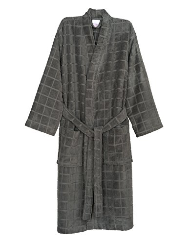 Mens Frost Fleece - TowelSelections Men's Robe, Fleece Cotton, Terry-Lined Water Absorbent Bathrobe Small/Medium Frost Gray