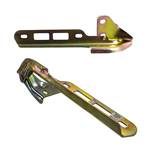 Make Auto Parts Manufacturing Set of 2 Driver and Passenger Side Steel Gold zinc-plated Hood Hinges For Ford Bronco 1987-1996 / For Ford F150 1987-1996 - FO1236101 FO1236102 - Ford F150 Hood Hinge