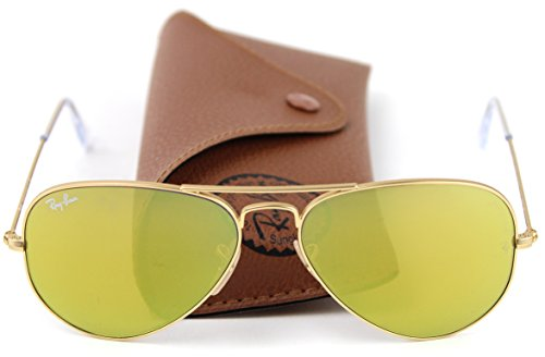 Ray-Ban RB3025 112/93 Aviator Sunglasses Brown Mirror Gold - Yellow Ray Ban