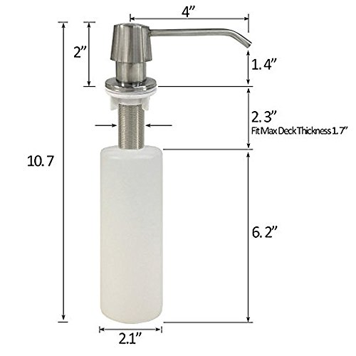 Countertop Kitchen Sink Built in Hand Soap Dispenser Pump