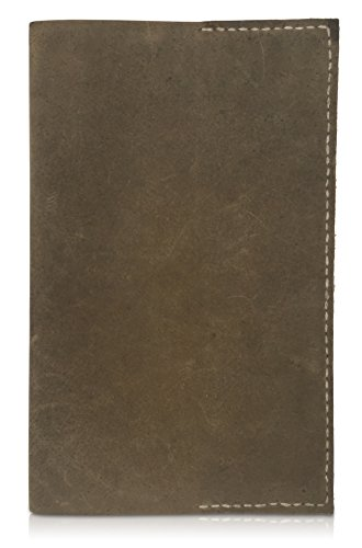 Leather Notepad Lined Refillable Moleskine Cahier Large Professional Hand Sewn Writing Journal – Field Notes to Do List Job Task Organizer - Daily Note Taking Pad to Write in (Coffee) by MoLi Products