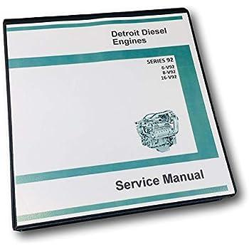 gm detroit diesel series 92 v92 6v92 8v92 16v92 engine service manual shop  book