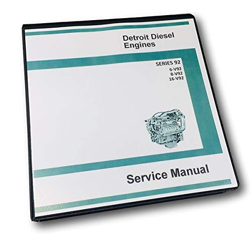 Diesel Shop Manual - Gm Detroit Diesel Series 92 V92 6V92 8V92 16V92 Engine Service Manual Shop Book